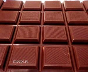 Шоколад - стимулирует образование эндорфина